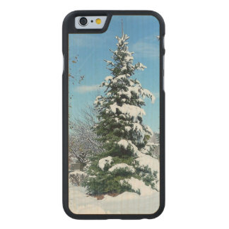 Winter-Märchenland-Apple iPhone 6 Holzetui Carved® iPhone 6 Hülle Ahorn