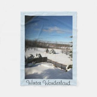 Winter-Märchenland-Fleece-Decke Fleecedecke