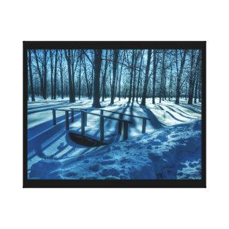 Winter-Märchenland Leinwanddruck