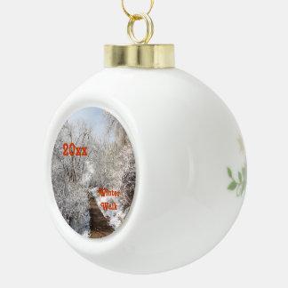 Winter-Märchenland-Schablonen-Verzierung Keramik Kugel-Ornament