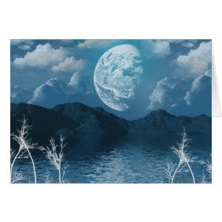 Winter-Mond Karte