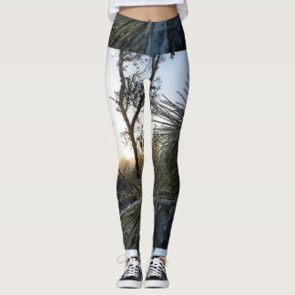 Winter-Morgen-Kiefern und Frost Leggings
