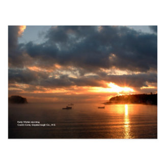 Winter-Morgen Postkarte