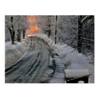 Winter-Morgen-Sonnenschein-Fotografie-Postkarte Postkarte