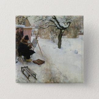 Winter-Motiv Åsögatan Quadratischer Button 5,1 Cm