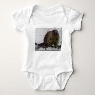 Winter-Murmeltier Baby Strampler