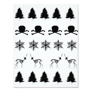 Winter-Muster 10,8 X 14 Cm Einladungskarte
