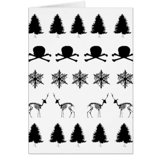 Winter-Muster Grußkarte