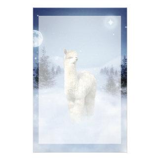 Winter-Nachtalpaka-Briefpapier Briefpapier