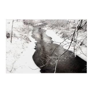Winter-Nebenfluss Acryldruck