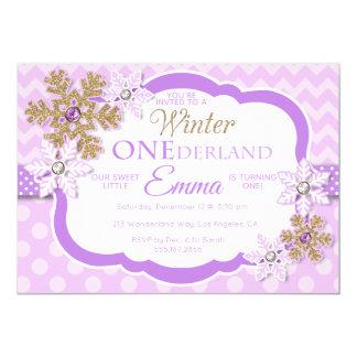 Winter ONEderland Mädchen-erste Karte