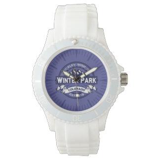 Winter-Park-Mitternachtsuhr Armbanduhr
