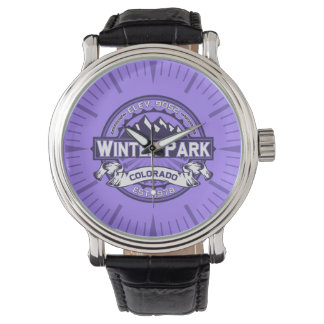 Winter-Park-violette Uhr