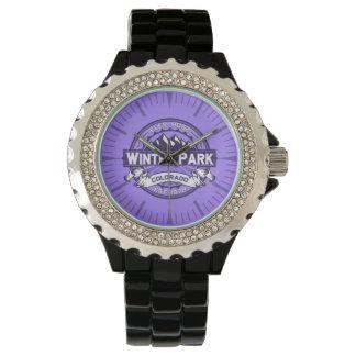 Winter-Park-violette Uhr