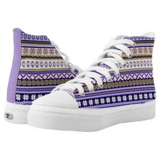 Winter Pastell- Hoch-geschnittene Sneaker