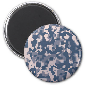 Winter Pixelated Camoflage Runder Magnet 5,1 Cm