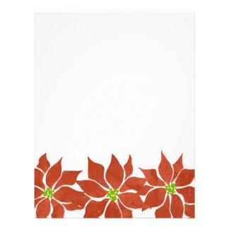 Winter-Poinsettia-Aquarell 21,6 X 27,9 Cm Flyer