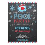 Winter-Pool-Einladungs-/Winter-Pool laden ein 12,7 X 17,8 Cm Einladungskarte