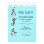 Winter-Pool-Party Einladung