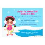 Winter-Pool-Party laden ein 12,7 X 17,8 Cm Einladungskarte