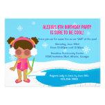 Winter-Pool-Party laden ein Personalisierte Ankündigungen