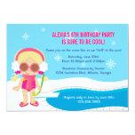 Winter-Pool-Party laden ein Personalisierte Einladungen