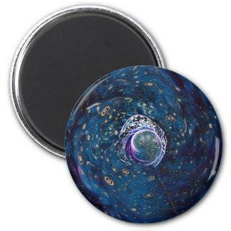 Winter-Portal Runder Magnet 5,7 Cm