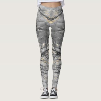 WINTER-REBE blasses Goldgrau Leggings