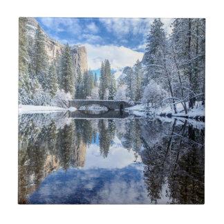 Winter-Reflexion bei Yosemite Keramikfliese