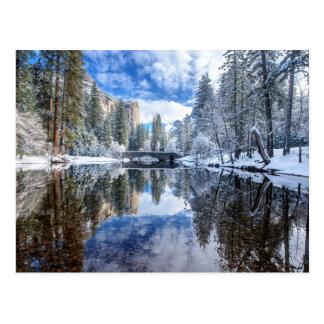 Winter-Reflexion bei Yosemite Postkarte