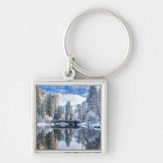 Winter-Reflexion bei Yosemite Schlüsselanhänger
