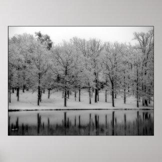 Winter-Reflexionen Poster