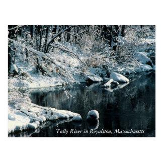 Winter-Reflexionen Royalston, Massachusetts Postkarte