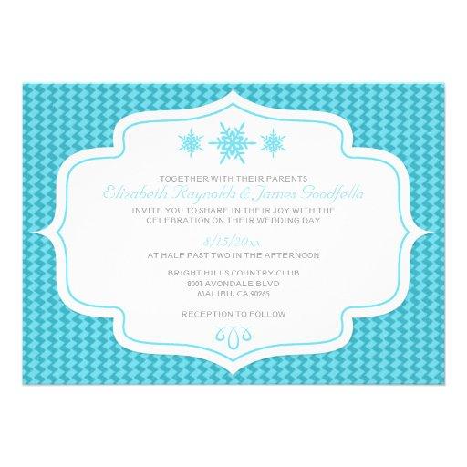 Winter-Retro Hochzeits-Einladungen