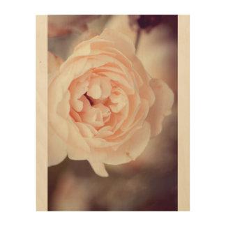 Winter-Rose Holzdruck