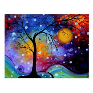 Winter-Schein-Kreis der Malerei des Leben-MADART Postkarte