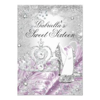 Winter-Schein-Schneeflocke-Rosa-Bonbon 16 laden 11,4 X 15,9 Cm Einladungskarte