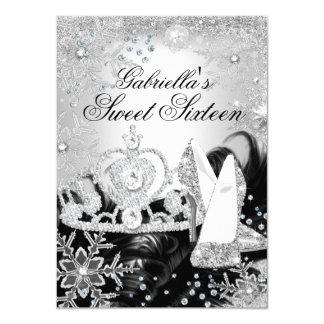 Winter-Schein-Schneeflocke-Silber-Bonbon 16 laden 11,4 X 15,9 Cm Einladungskarte
