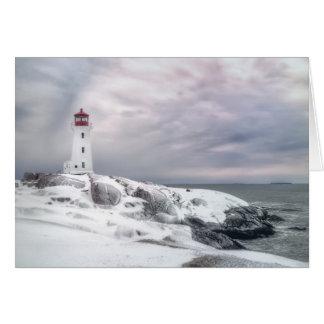 Winter-Schnee an Peggys Bucht Halifax Karte
