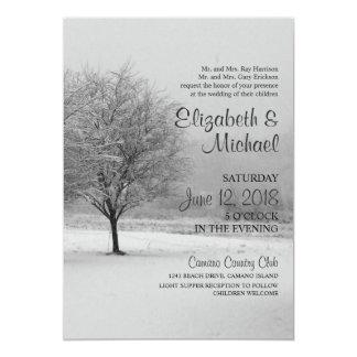 Winter-Schnee-Hochzeits-Einladung Karte