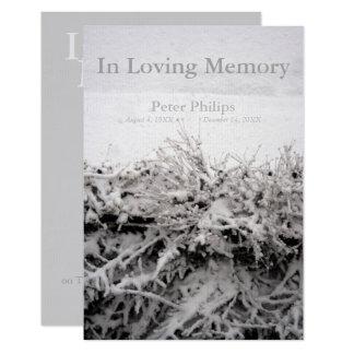 Winter-Schnee in liebevollem Gedächtnis-Begräbnis Karte