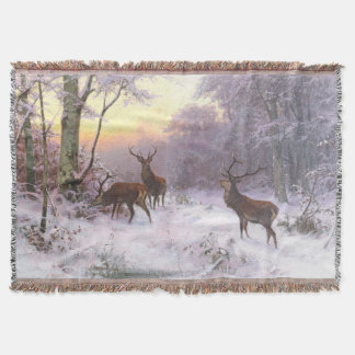 Winter-Schnee-Rotwild-Tier-Wurfs-Decke Decke