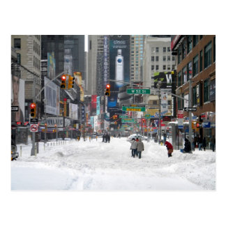 Winter-Schnee-Sturm New York City 12/26/10 Postkarte