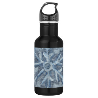 Winter-Schneeflocke-Aquarell Trinkflasche