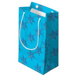 Winter-Schneeflocke-Entwurf für Weihnachten 3 Kleine Geschenktüte