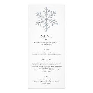 Winter-Schneeflocke-Menü 2 Einladungen