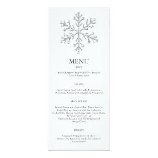Winter-Schneeflocke-Menü 2 10,2 X 23,5 Cm Einladungskarte