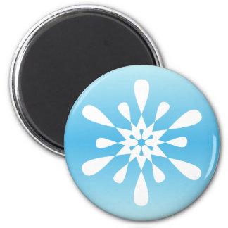 Winter-Schneeflocke Runder Magnet 5,7 Cm