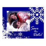 Winter-Schneeflocke-Save the Date (lapis) Foto