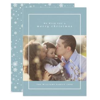 Winter-Schneeflocke-WeihnachtsFoto-Karten 12,7 X 17,8 Cm Einladungskarte